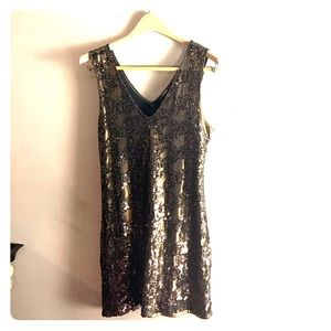 Express sequin party dress size small.
